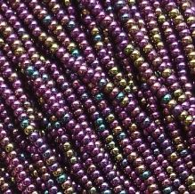 11/0 Czech Seed Bead Hank Purple Iris